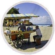 Costa Rica Vendor Round Beach Towel