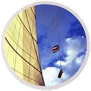 Costa Rican Sailing Round Beach Towel