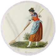Costumes And Costumes Round Beach Towel
