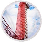 Cota Towering Tower  Round Beach Towel