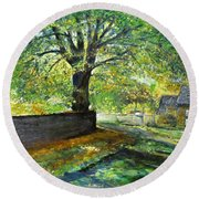 Cotswold Lane  Round Beach Towel