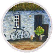 Cottage Life Round Beach Towel