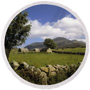 Cottages On A Farm Near The Mourne Round Beach Towel