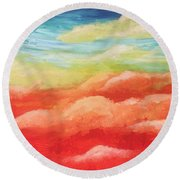 Cotton Candy Dreams Round Beach Towel