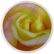 Cotton Candy Roses Round Beach Towel
