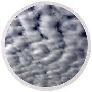 Cotton Clouds Round Beach Towel