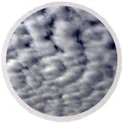 Cotton Clouds Round Beach Towel