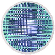Cotton Field Abstract Round Beach Towel