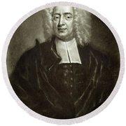 Cotton Mather 1663-1728 Round Beach Towel