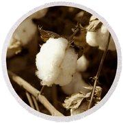 Cotton Sepia2 Round Beach Towel