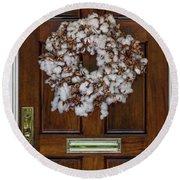 Cotton Wreath Round Beach Towel