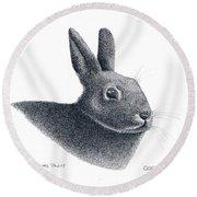 Eastern Cottontail Rabbit Round Beach Towel