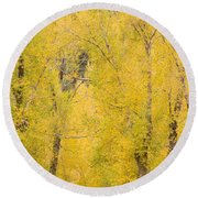 Cottonwood Autumn Colors Round Beach Towel
