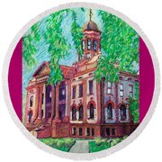Cottonwood County Courthouse  Round Beach Towel