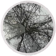 Cottonwood Tree Montage Round Beach Towel