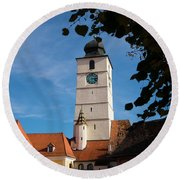 Council Tower Round Beach Towel
