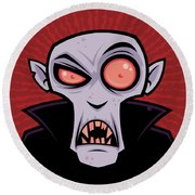 Count Dracula Round Beach Towel