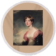 Countess Of Plymouth By Sir Thomas Lawrence Round Beach Towel