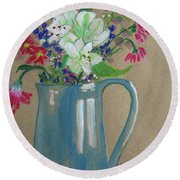 Country Bouquet Round Beach Towel