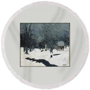 Country Doctor Round Beach Towel