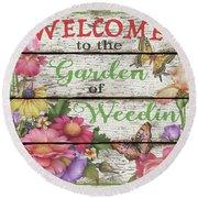 Country Garden Sign-e Round Beach Towel