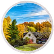 Country Living 2 - Paint Round Beach Towel