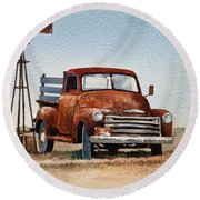 Country Memories Round Beach Towel