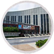 Country Music Hall Of Fame Nashville Round Beach Towel