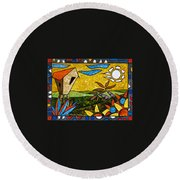 Country Peace Round Beach Towel