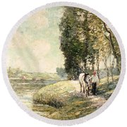 Country Road To Spuyten Round Beach Towel