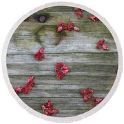 Country Seedling Round Beach Towel
