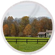 Country Side Home Round Beach Towel