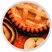 Country Style Baking Round Beach Towel