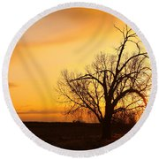 Country Sunrise Round Beach Towel