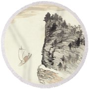 Country Trip Round Beach Towel