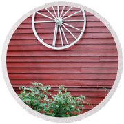 Country Wheel Round Beach Towel