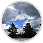 Countryside Beauty Round Beach Towel