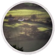 Countryside Dreaming Round Beach Towel