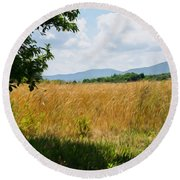 Countryside Of Italy 2 Round Beach Towel