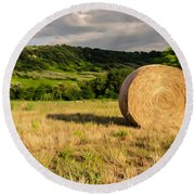 Countryside Of Italy 3 Round Beach Towel