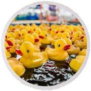 County Fair Rubber Duckies Round Beach Towel