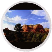 Courthous Butte Round Beach Towel