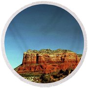 Courthouse Butte Round Beach Towel