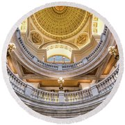 Courthouse Dome Round Beach Towel