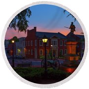 Courthouse Square Round Beach Towel