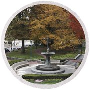 Courthouse Square In Rockville Maryland Round Beach Towel