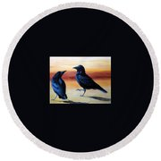 Courting Crows Round Beach Towel
