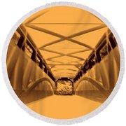 Covered Bridge 3 Round Beach Towel
