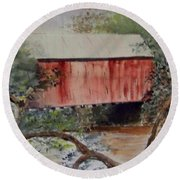 Covered Bridge Round Beach Towel