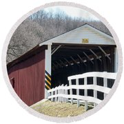 Covered Bridge Pa Round Beach Towel